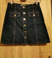 Zara mini suknja od jeansa