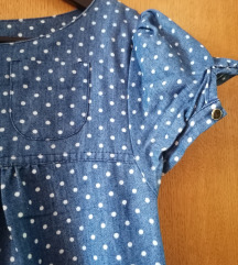 Plava točkasta haljina