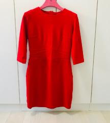 Mango crvena uska haljina