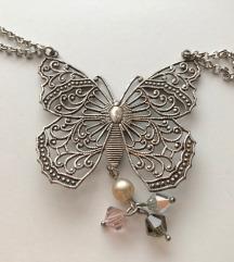 Accessorize ogrlica s leptirom