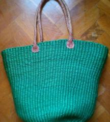 Ceker,torba smaragdno zeleni,kozne rucke