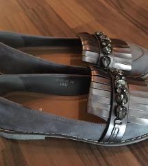 Nove sive cipele koledžice oxfordice balerinke 39
