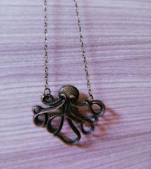 Retro ogrlica s privjeskom hobotnice
