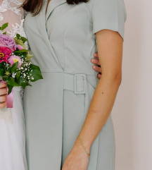 Mango formalna haljina boje mente