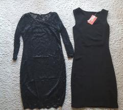 Male crne haljine LOT NOVO %%35kn obje!
