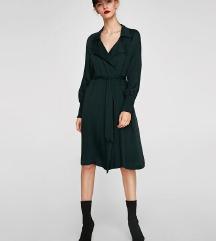 Zara smaragdnozelena košulja/haljina