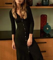Nova midi strukirana crna haljina 36