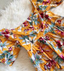 AMISU cvjetna bluza žute boje - NOVO