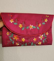 Cvjetna roza torbica / novčanik