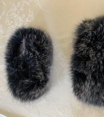 Pravo krzno lisice  za rukave kaputa , jakne