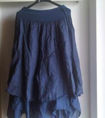 Bogata lanena midi suknja M/L