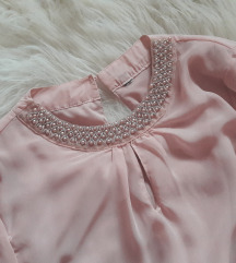 AMISU puder roza bluza s biserima