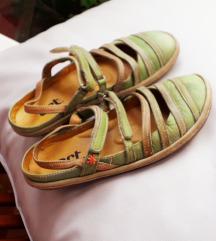 ART zelene sandale PRAVA KOŽA