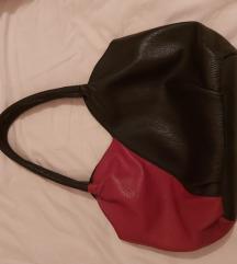 Galko kožna crveno crna torba