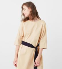 Mango pamučna haljina sa remenom