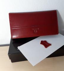 Bordo crveni novčanik - PRAVA KOŽA