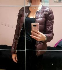 Burgundy jakna punjena perjem