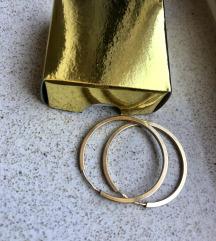 Naušnice 585 žuto zlato 25mm