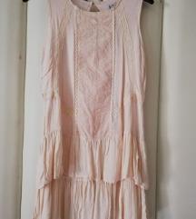 Pull&Bear nude haljina sa volanima