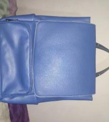 Accessories Plavi kožni ruksak
