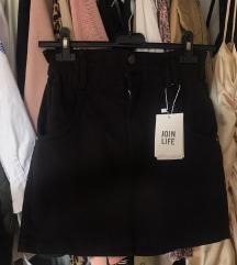 Nova crna traper suknja