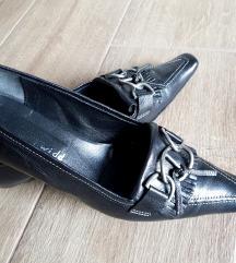 Crne kožne cipele Made in Italy, br 37/37,5