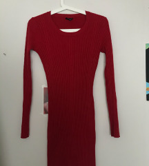 Crvena uska haljina/duga majica