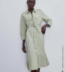 Rezervirano Zara lanena haljina