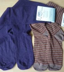 Pamučne čarape dokoljenice, 2 para, one size