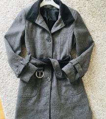 Sivi zimski kaput vel M