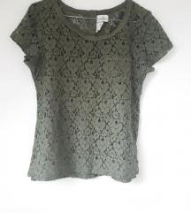 Maslinasta majica čipka HM 36