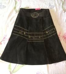 vintage suknja od samta, vel M