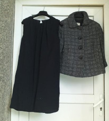MANGO LOT- mala haljinica+ retro kaputić M\L