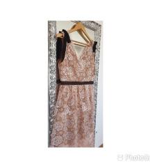 Self portrait Starlet Rose Midi cipkasta haljina