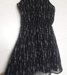 H&M, 1xnosena haljina, crno bijela, S, M