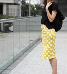 Žuta suknja na točkice