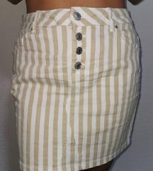 Prugasta traper suknja
