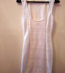 Čipkasta bijela haljina