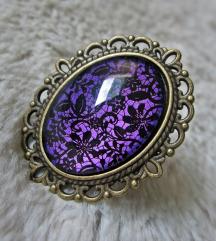 Prsten ''Purple lace'' (ručni rad)