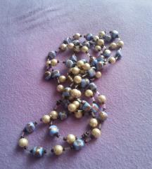 Dugačka ogrlica s perlicama
