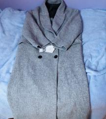 Zara sivi dugi kaput S 36