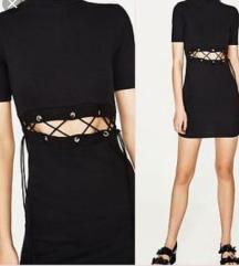 Zara laceup turtleneck dress