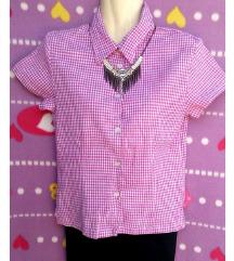 H&M roza karirana košulja