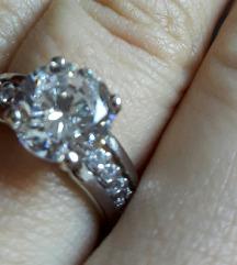 Zaručnički prsten bijelo zlato 585