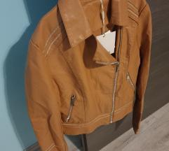 NOVA s etiketom konjak kožna jakna