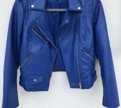 Zara plava kožna jakna