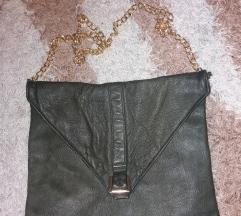 Mura Pehnec tamnozelena kožna torba