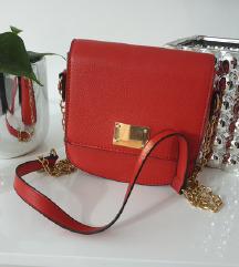 NOVA crveno zlatna predivna torbica, SNIŽENO%