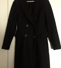ZARA WOMAN crni vuneni kaput - XS/S