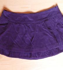 Ljubučasta samt suknja, 42